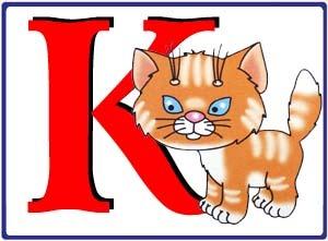 Картинки по запросу буква к кошка