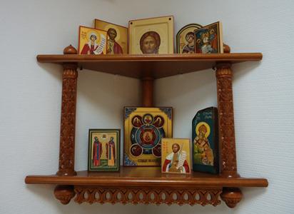 Полка иконы своими руками фото