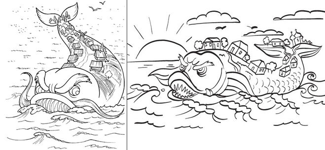 Как нарисовать Чудо-Юдо? поэтапно