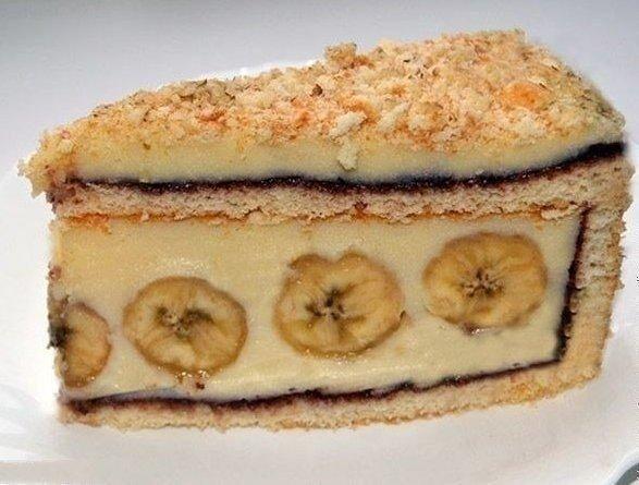 Торт с бананами фото