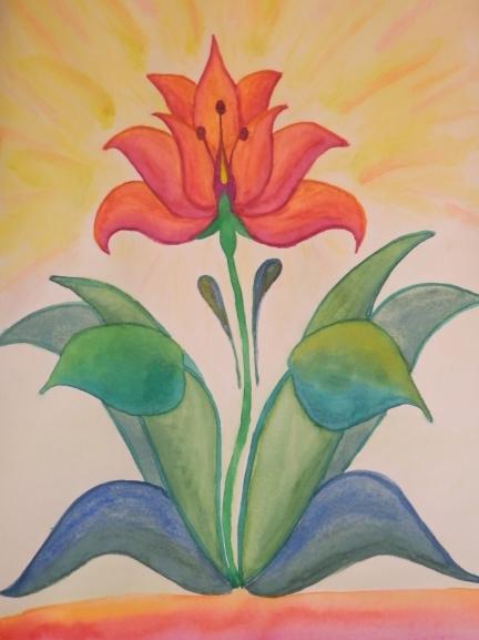 Нарисовать из аленького цветочка