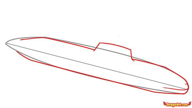 как рисовать лодку пошагово