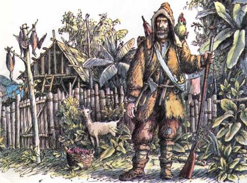 сколько робинзон крузо прожил на необитаемом острове