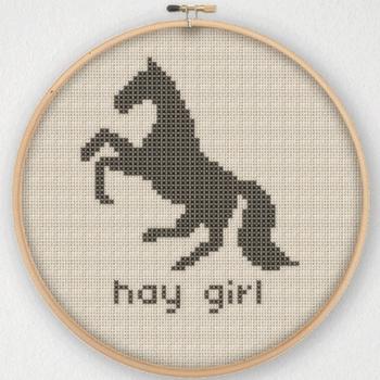 лошадь вышивка крестиком