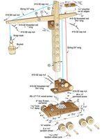 схема для деревянного подъемного крана