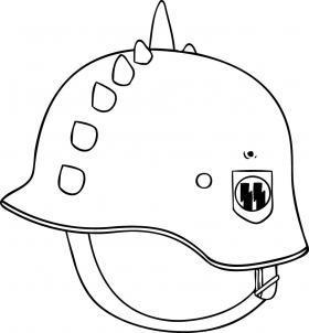 Раскраска военные каски