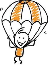 Как поэтапно нарисовать парашютиста с парашютом в полете с детьми?