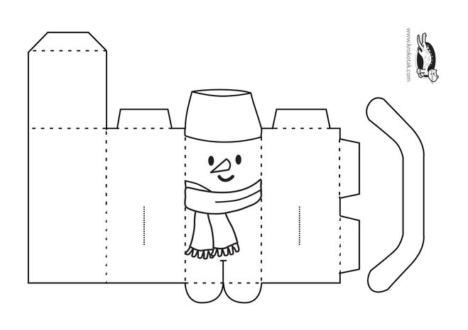 Новогодняя поделка своими руками из бумаги шаблон