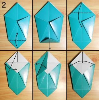 Оригами из бумаги ваза лёгкую