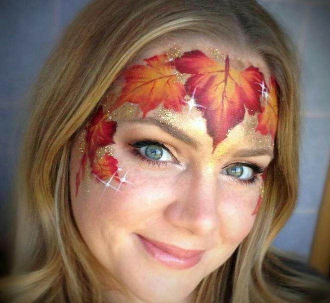 Рисуем на лице осень