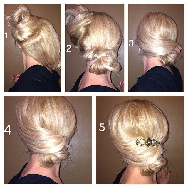 Вечерние причёски на короткие волосы с пошаговым