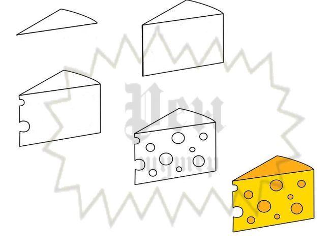 Кусок сыра рисунок