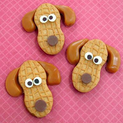 съедобная собака для украшения  из печенья