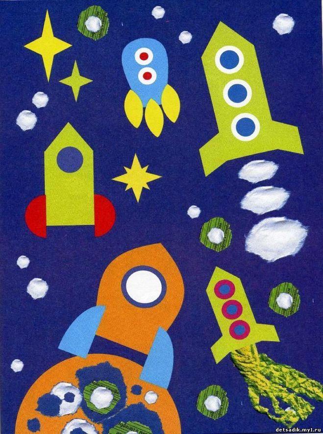 Поделки и рисунки на тему космоса 83