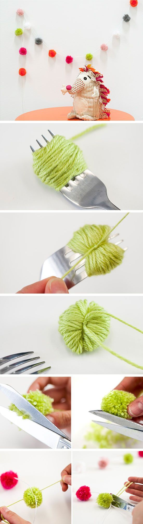 Как сделать помпоны из пряжи своими руками