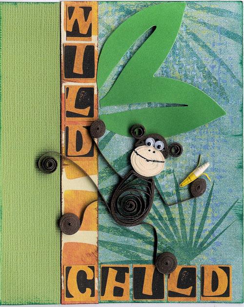 Картина своими руками с обезьяной 31