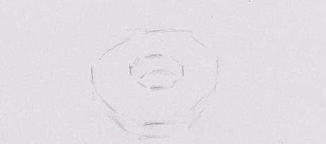 Нарисовать пончика поэтапно