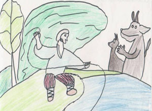 """рисунок """"Сказка о Попе и его работнике Балде"""""""