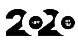"""красивые цифры """"2020"""" для  Нового года 2020 Белой Мыши (Крысы)"""