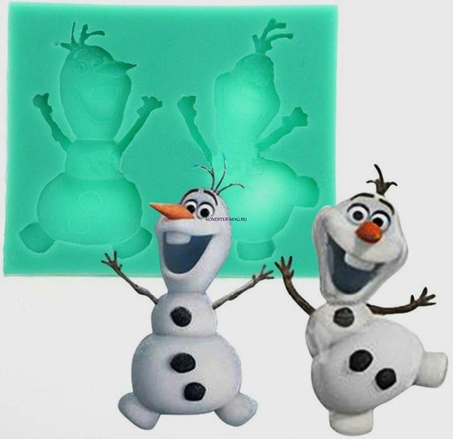 Снеговик Олаф из мастики
