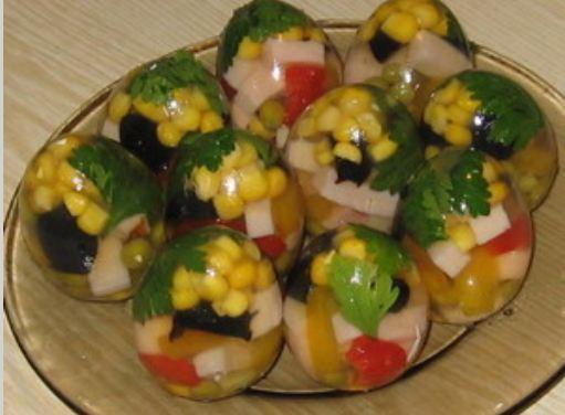 Заливные яйца фаберже рецепт пошагово