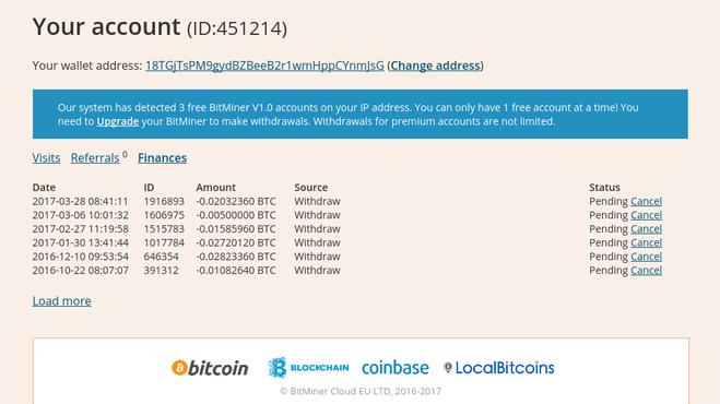 Сборщик биткоинов bitminer.io, какие отзывы?