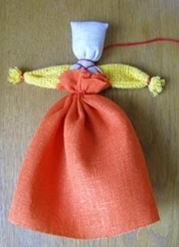 Кукла веснянка  из ткани