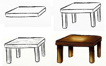 Дикий помещик рисунок карандашом стол