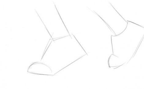 нарисовать кроссовки 1
