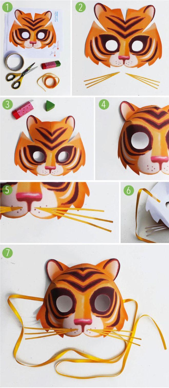 Как из бумаги сделать тигра фото 397