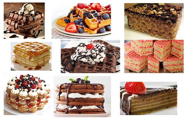 вафельный десерт