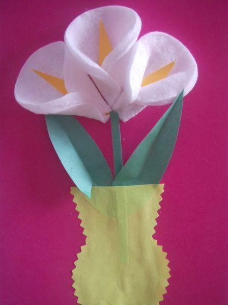 Как сделать цветок из ватных палочек