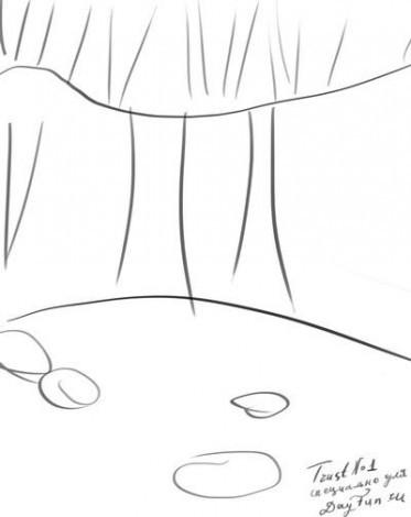 Два порога для водопада прорисовываем