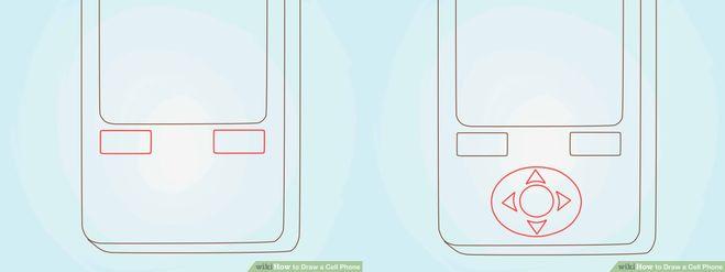 поэтапный урок рисования сотового телефона