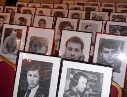 Портреты погибших журналистов в Домжуре. 15 декабря 2009 г. Фото
