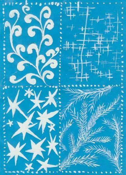 Морозный узор рисунок на бумаге трафарет