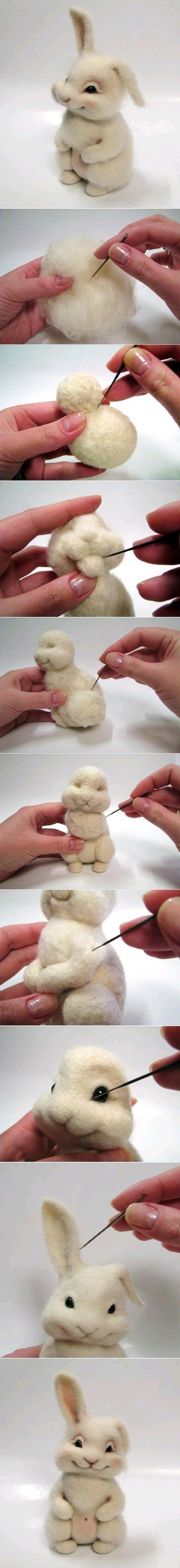 валяние кролика