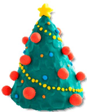 Ёлка из пластилина на новый год