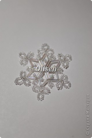 снежинка бисером