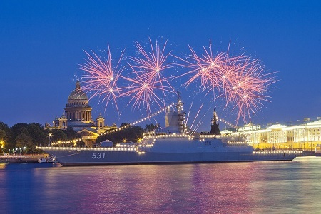 День ВМФ СПб салют