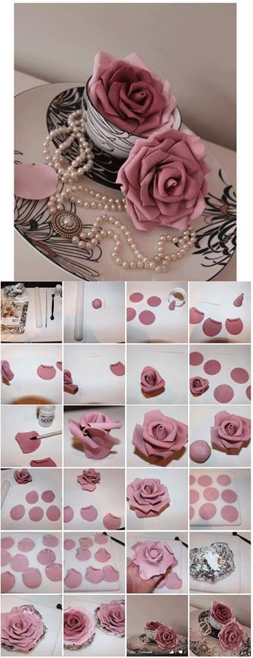 Как сделать красивую розу из мастики