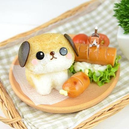 съедобная собака для украшения  из риса