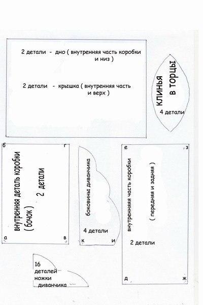 Шаблоны для шкатулки из открыток своими руками