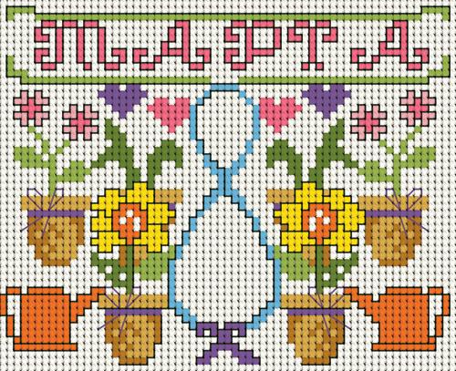 вышивка на 8 марта крестиком схема