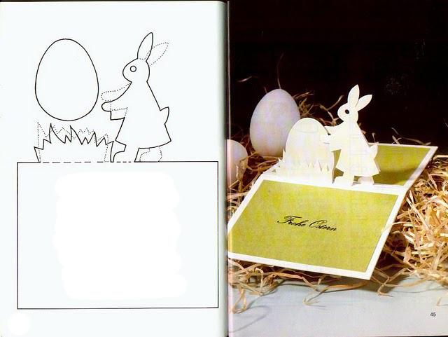 Как сделать вытынанку на Пасху Объемный заяц , поэтапно ...