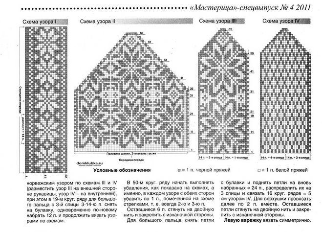 Схемы вязания жаккарда на спицах 411
