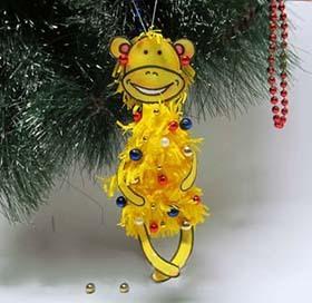 игрушки на елку в Новый год Желтой Земляной Обезьяны