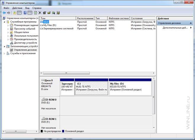 диски Windows8.1