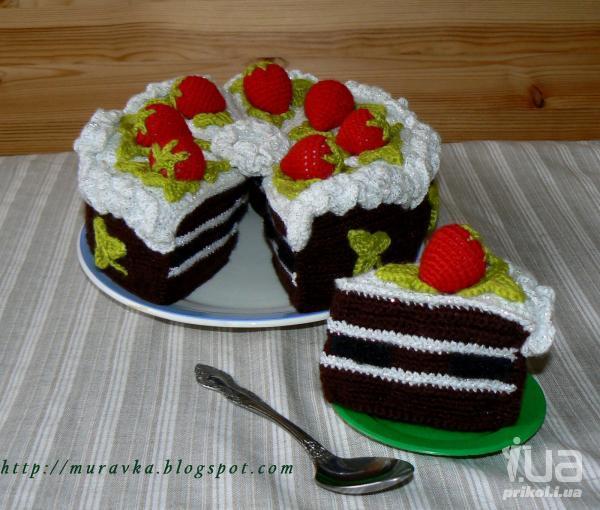 Как связать торт крючком своими руками?