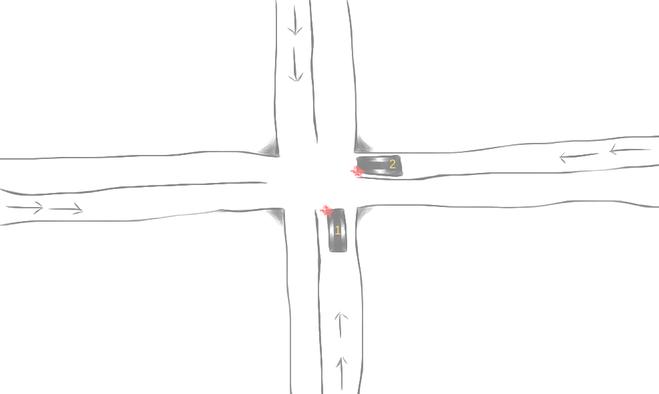 Ситуация на перекрёстке